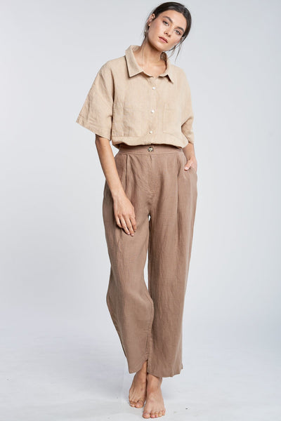 FILOSOFIA | Ella Linen Pants in Wheat