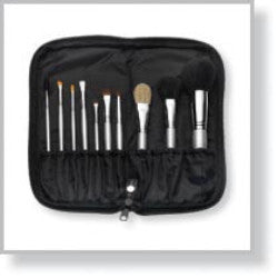 50099 10-Piece Signature Silver Brush Set with Zippered Case (Black)