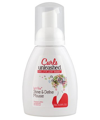 Curls Unleashed Let it Flow Shine & Define Mousse