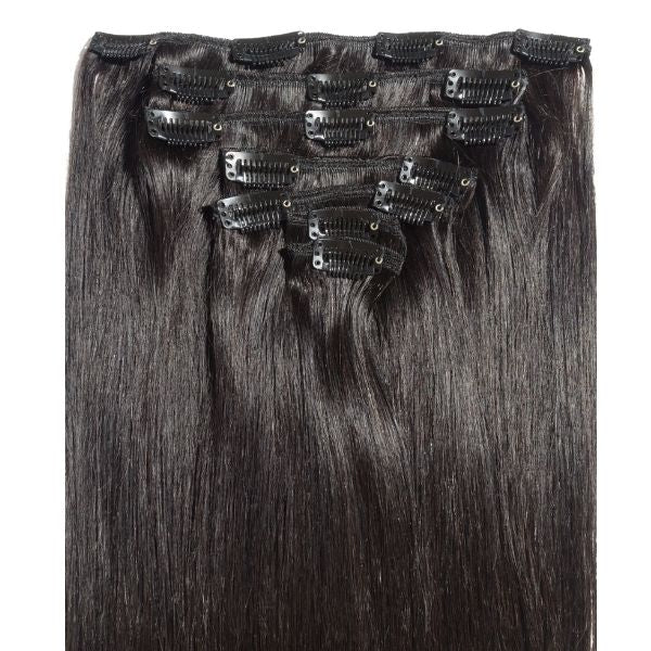 "14"" 100% Human Hair 9clip-in Color 8"