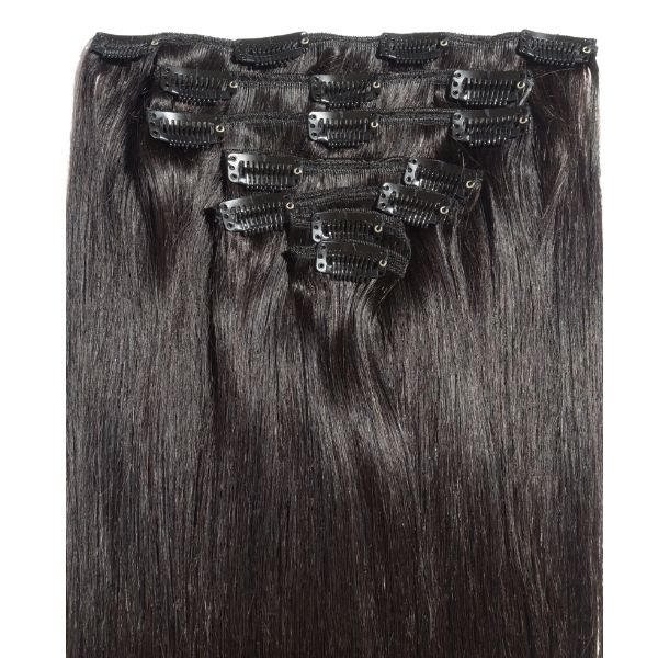 "18"" 100% Human Hair 7pcs Clip-In Color 613"
