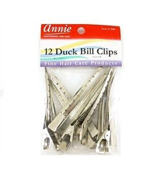 Annie 12 duck bill clips
