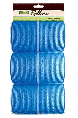 Magic Gold Velcro Rollers Blue