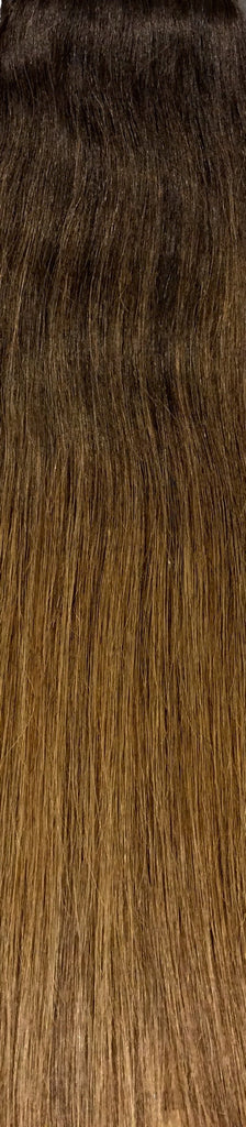"18"" 100% Human Hair 7pcs Clip-In Balayage Color B2/6"