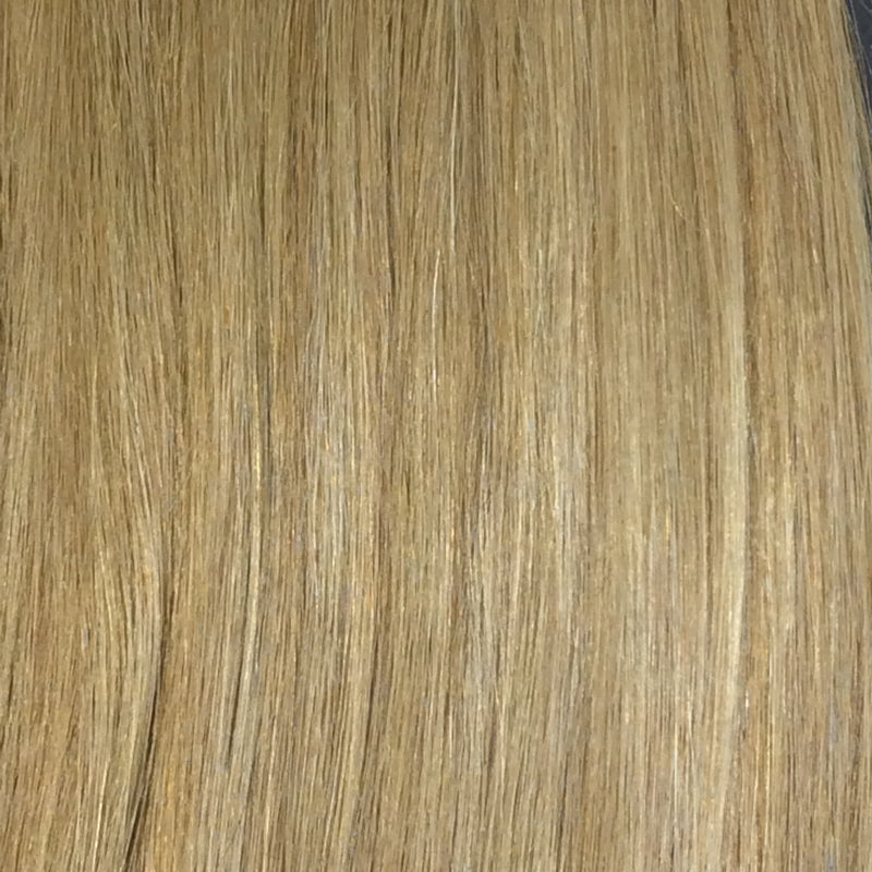 "22"" 100% human hair 9clip-in color 27"