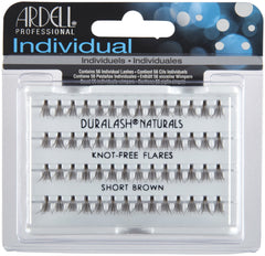 Ardell Individual Eyelashes -  Knot Free Flare Short Brown