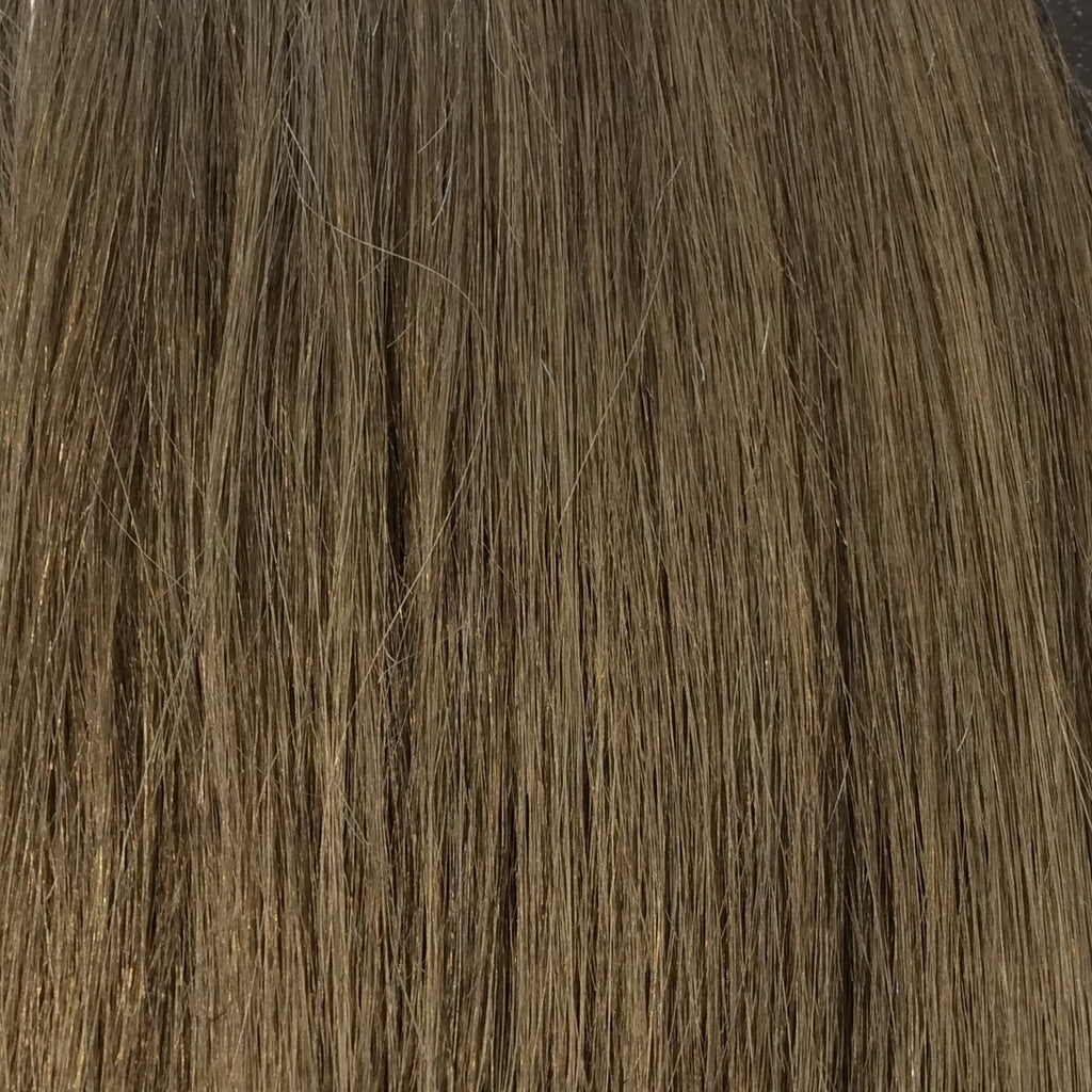 "18"" 100% human hair 9clip-in color 6"