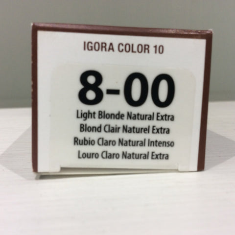 2ace7fbdc6 Schwarzkopf Igora Color 10: 8-00 | The Beauty Emporium