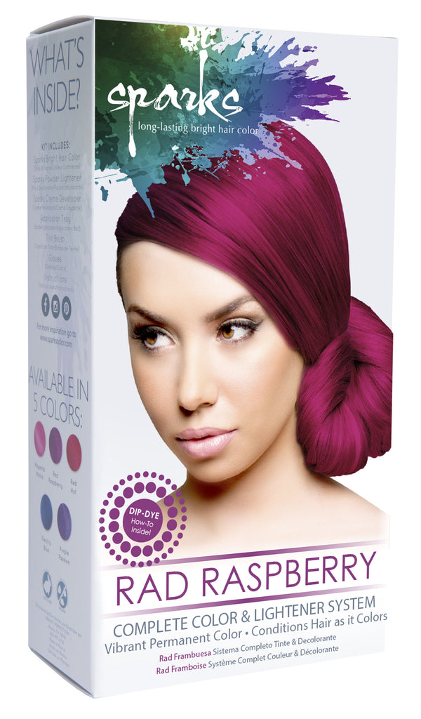 Sparks Complete Color & Lightener System: Rad Raspberry