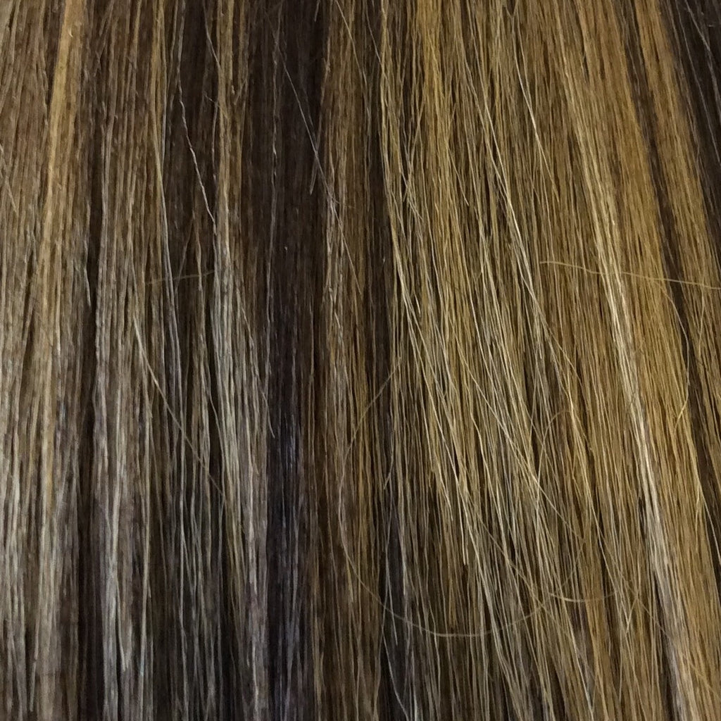 "18"" 100% human hair 9clip-in color P4/27"