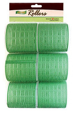 Magic Gold Velcro Rollers Green