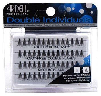 Ardell Individual Eyelashes - Knot Free Double Flare Medium Black