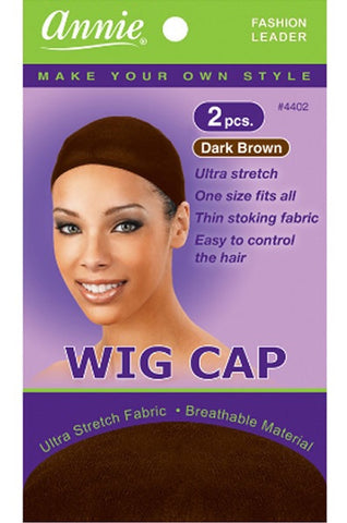 Annie Wig Cap #4402 Dark Brown