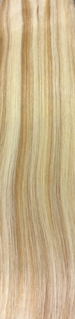 "18"" 100% Human Hair 7pcs Clip-In Color P27/613"