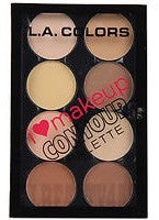 L.A Colours Contour Palette Light-Medium