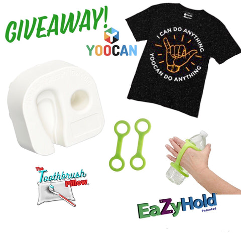 Giveaway! T-Shirt from YooCan, Toothbrush Pillow and 2 Pack Sippy Cup/Bottle EazyHold