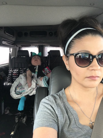 mother takes special needs daughter on a road trip