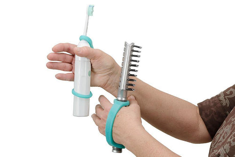 EazyHold on a hair brush and a toothbrush!