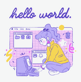 HELLO WORLD tshirt