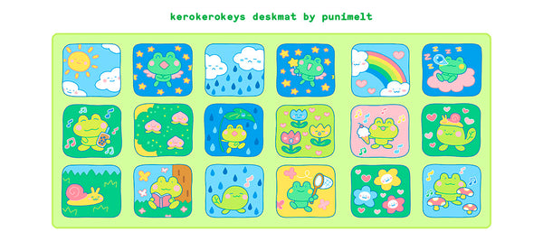 kerokerokeys deskmat (GROUP BUY, SHIPS MAY 2021)