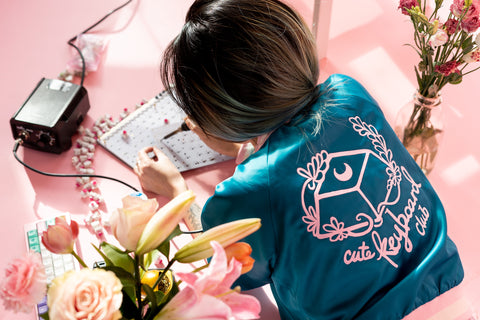 cute keyboard club collab jacket