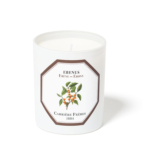 Ébène - Ebony Candle 6.5oz by Carriere Freres