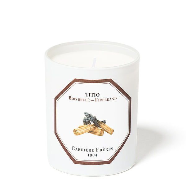 Bois Brûlé - Firebrand Candle 6.5oz by Carriere Freres