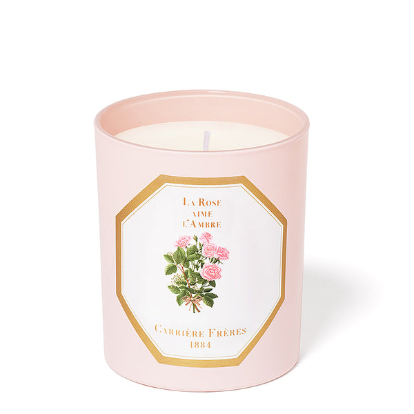 La Rose Aime L'Ambre - Rose Amber Candle 6.5oz Carriere Freres