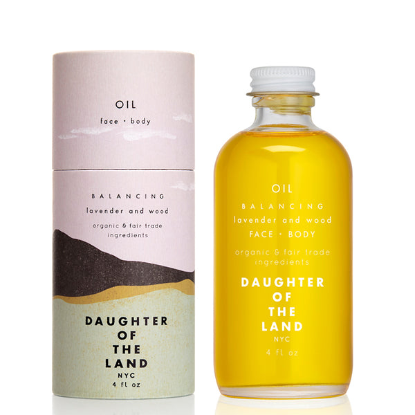 Balancing Lavender & Wood - Face & Body Oil 4oz Daughter of the Land
