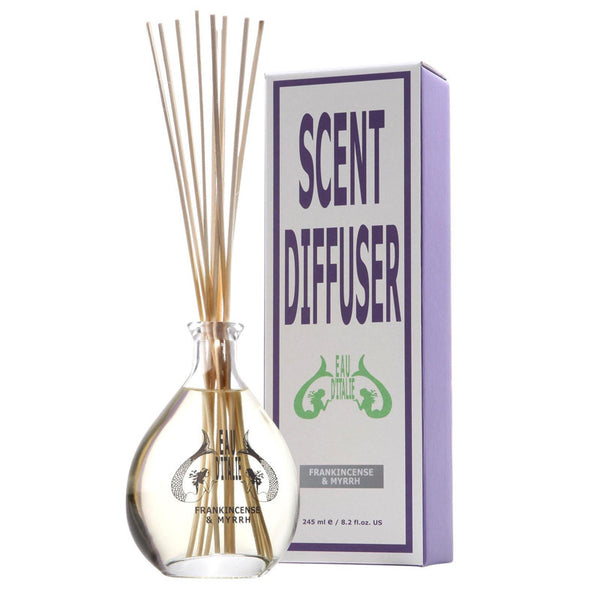Frankincense & Myrrh - Fragrance Diffuser Sticks 8.2oz by Eau d'Italie