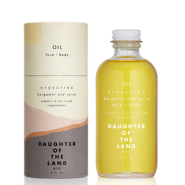 Hydrating Bergamot & Spice - Face & Body Oil 4oz Daughter of the Land