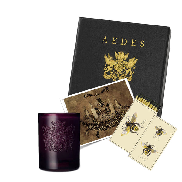 Aedes Gift Box Set | Mel Mellis Candle & Matches | Aedes.com