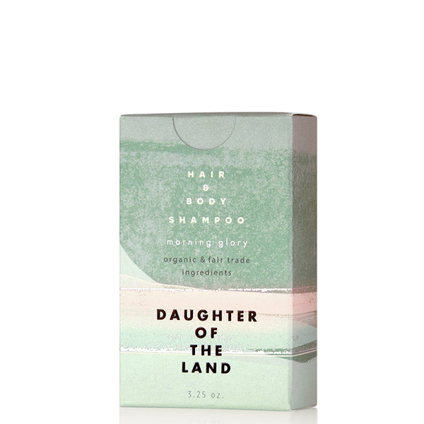 Morning Glory Hair & Body Shampoo Bar 3.25oz Daughter of the Land