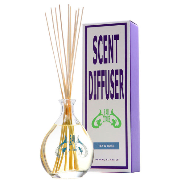 Tea & Rose - Fragrance Diffuser Sticks 8.2oz by Eau d'Italie