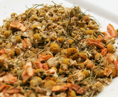Chamomile Sicilian Blood Orange Herbal Tea -Organic Hand Blended