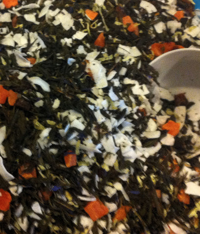 Sencha Coconut Mango Papaya Island  Green Loose Leaf Tea