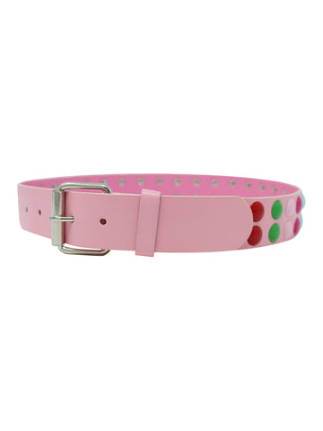 Rainbow Multicolor Studded Belt