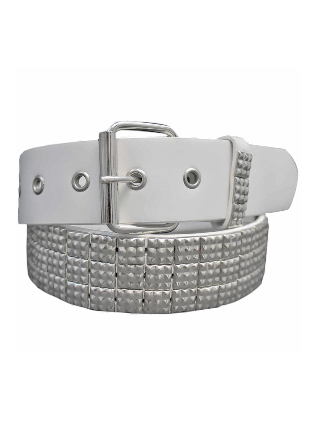 Pyramid Studded 3 Row Grommet Belt