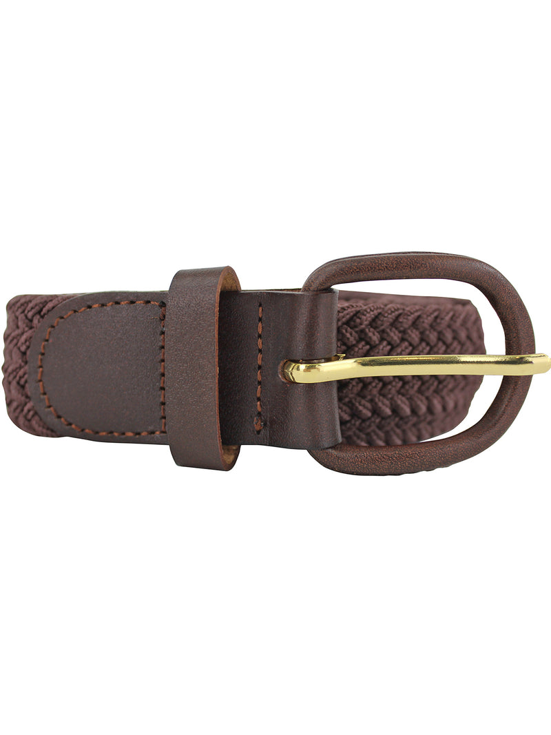 Brown Braided Belt Size Large