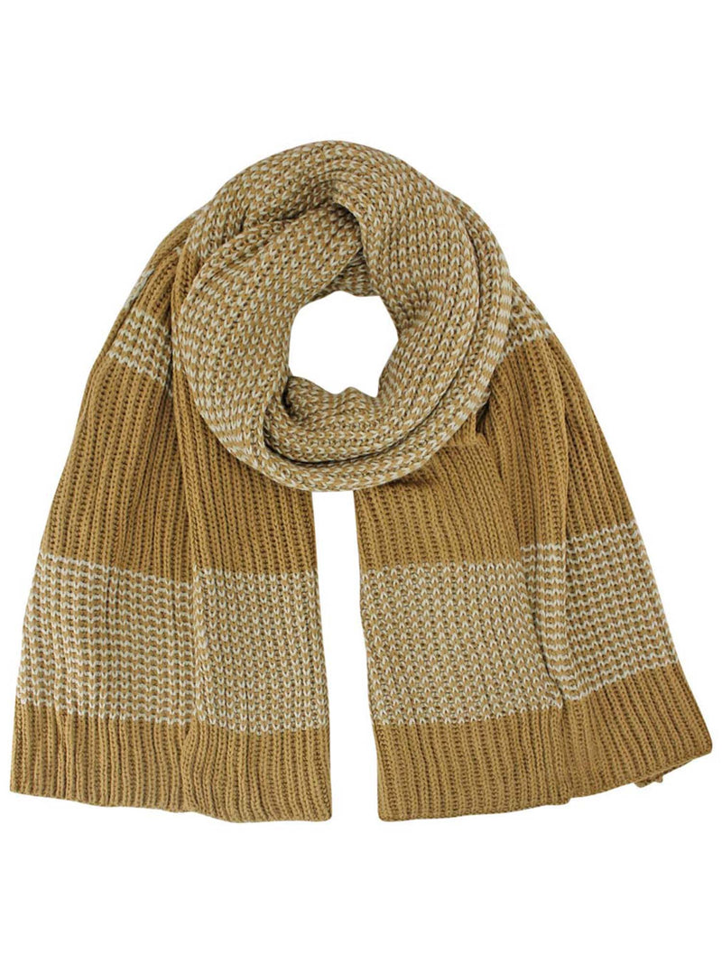 Striped Chunky Knit Oblong Unisex Winter Scarf