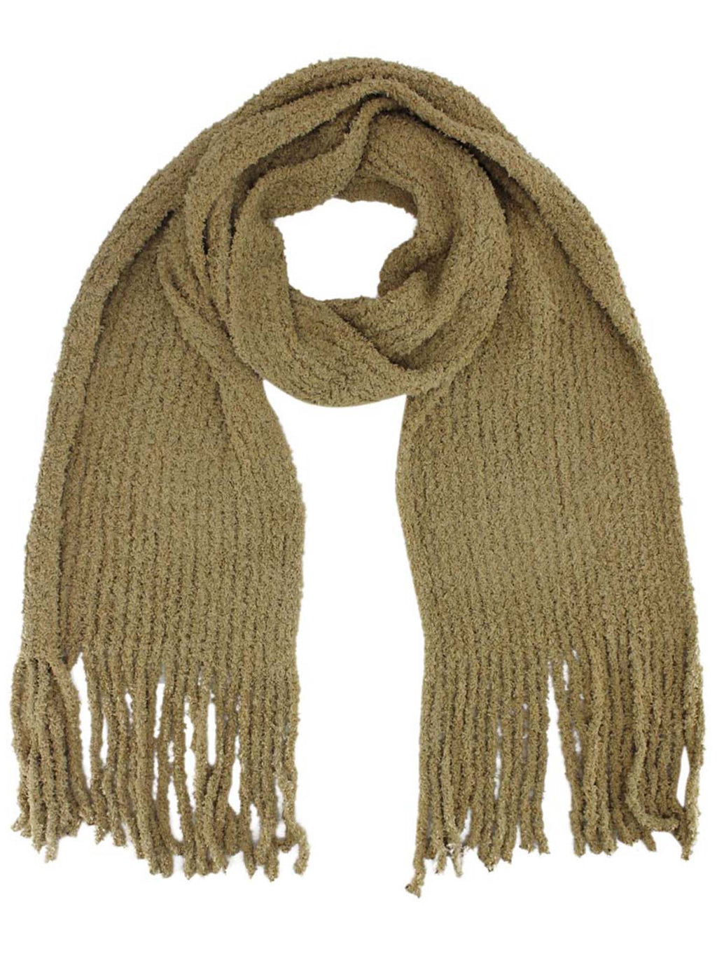 Cozy Long Winter Knit Unisex Scarf With Fringe