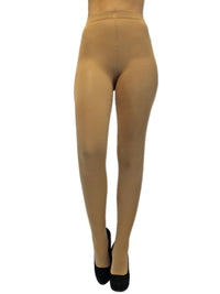 Nude Beige Opaque Stretchy Pantyhose Tights