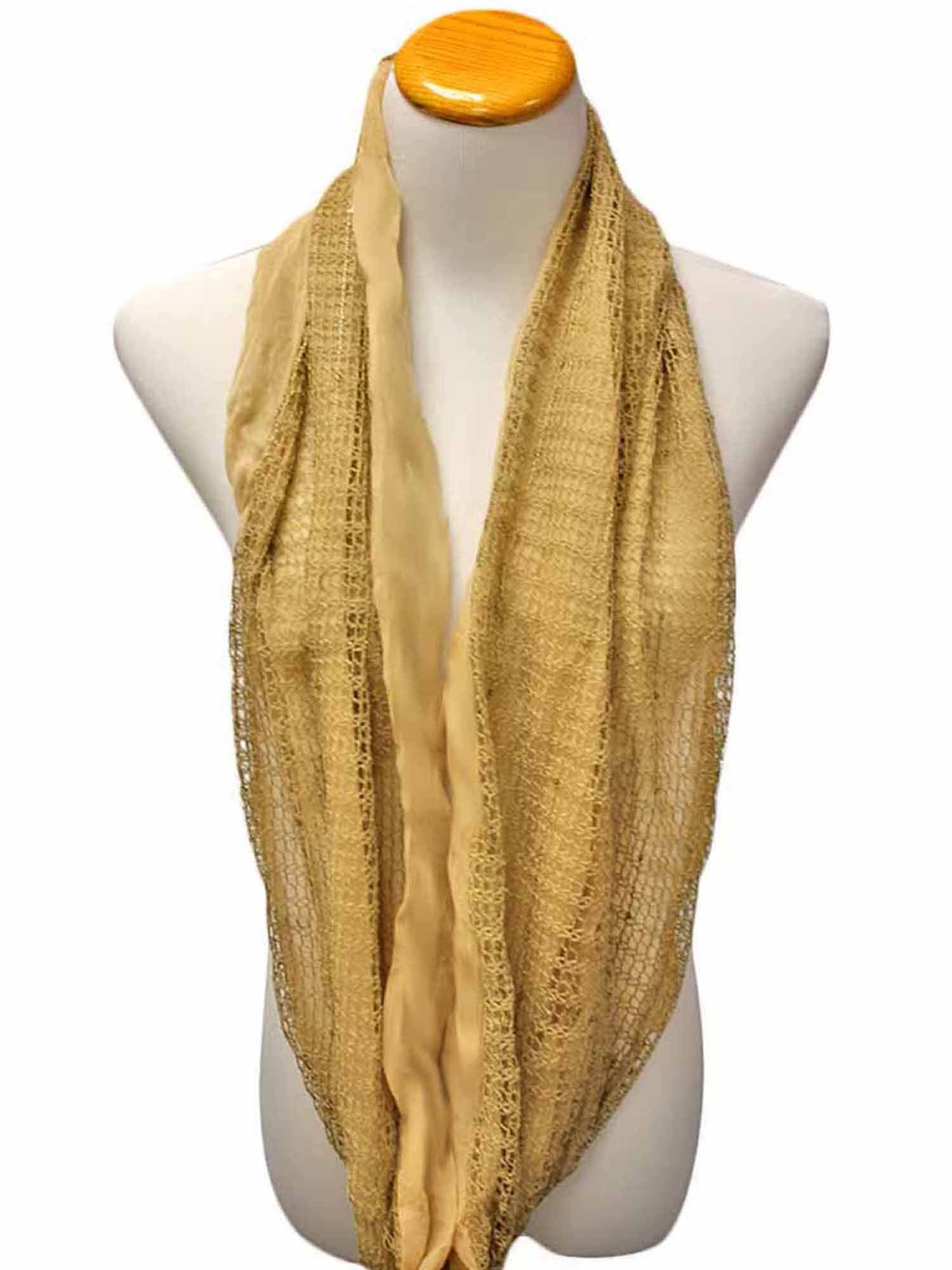 Dual Layered Infinity Scarf With Sequins