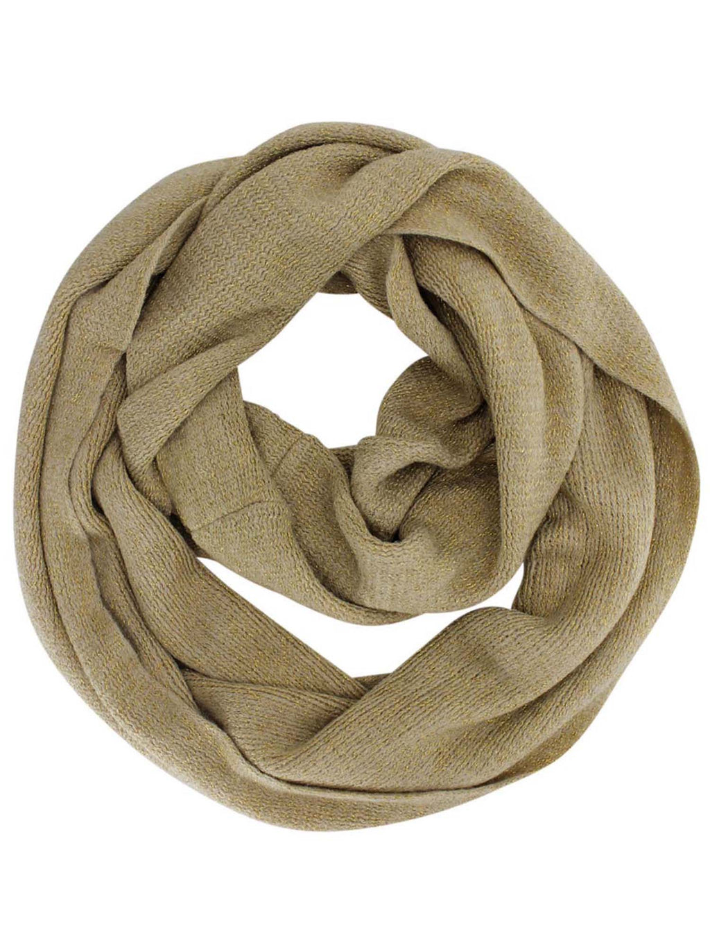 Metallic Winter Knit Circle Infinity Scarf