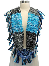 Circle Infinity Scarf With Tassel Trim