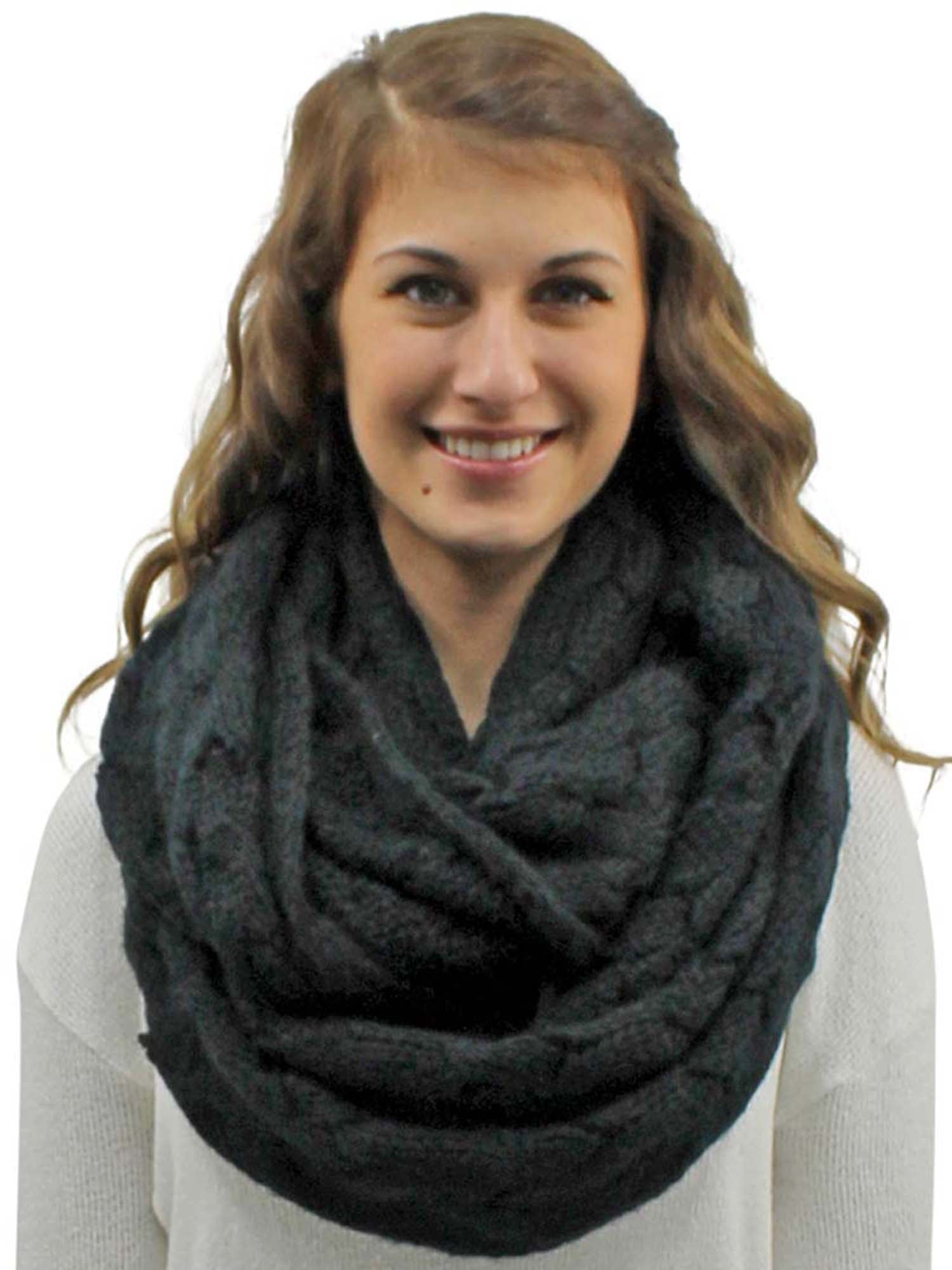 Oversize Chunky Cable Knit Unisex Infinity Scarf