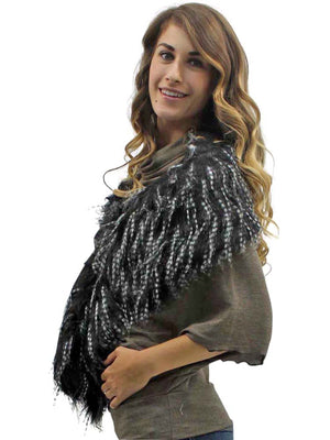 Faux Fur Exotic Long Shawl Wrap