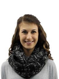 Two-Tone Cable Knit Infinity Scarf