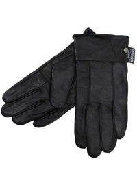 Black Soft Leather Womens 3M Insulated Winter Gloves