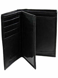 Slim Bifold Mens Black Wallet With Coin Holder